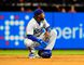 Los Angeles Dodgers shortstop Hanley Ramirez reacts after the St. Louis Cardinals won in game three of the 2014 NLDS baseball playoff game 3-1 at Busch Stadium on Oct. 6, 2014. Jeff Curry-USA TODAY Sports