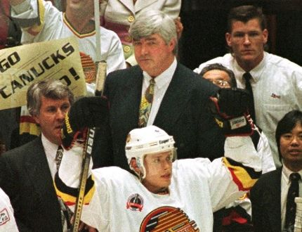 Pat Quinn mans the Canucks bench during the 1994 Stanley Cup Final. Quinn, who died Sunday at age 71, had a lasting impact on the Canucks franchise that is still felt to this day. QMI AGENCY FILE PHOTO
