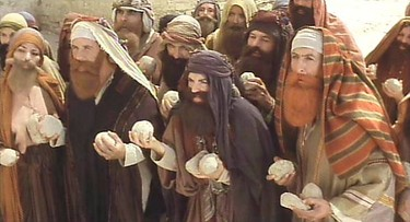The stoning scene in the film Monty Python's Life of Brian: