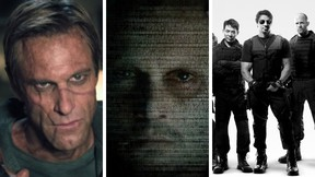 (L to R): Expendables 3, Transcendence, and I, Frankenstein.  (Courtesy)
