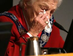 Outgoing Mississauga Mayor Hazel McCallion during her last council meeting on Wednesday, November 26, 2014. (Craig Robertson/Toronto Sun)