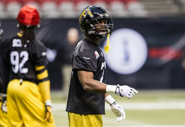 4. Delvin Breaux Hamilton's weak-side cornerback doesn't put up the big numbers that some defensive backs do, but that's because few quarterbacks dare throw the ball his way. Breaux had only one interception this season, which he returned for a touchdown, and registered just 33 tackles. That, however, hasn't stopped more than one receiver from calling Breaux the best defensive back in the league. Breaux is another potential NFLer next season.    (Carmine Marinelli/QMI Agency)