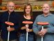 There are three generations of curlers within the Lotus family. Pictured are: John (Meril) Lotus, Amy Lotus- Vandertuin and John Lotus. All are members of the Simcoe Curling Club. (EDDIE CHAU Simcoe Reformer)