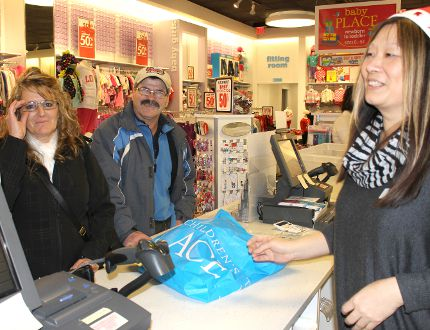 <p>Doreen Mayer and Edgar Mayer took advantage of the great deals offered up by local merchants for Black Friday. Manager Sue Tam said it was a great day for business.</p><p>LOIS ANN BAKER/CORNWALL STANDARD-FREEHOLDER/QMI AGENCY