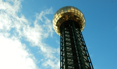 The gold-coloured, 81-metre Sunsphere is a lasting legacy of the 1982 World's Fair in Knoxville. There's now a bar up top. WAYNE NEWTON/SPECIAL TO QMI AGENCY