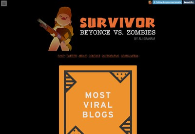 Survivor Beyonce Vs. Zombies, which has little cartoons of a woman, presumably the singer, battling zombies. (SCREENSHOT)