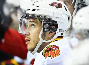 Niki Petti, with his 10th of the season, had the lone Belleville Bulls goal in a 2-1 loss Friday night at Kingston. (OHL Images)