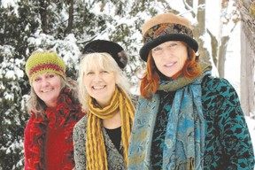 From left, Jude Vadala, Tannis Slimmon and Katherine Wheatley comprise Boreal.