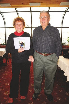 Pictured here are Shirley and Colin at the calendar launch.