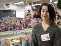 Courtney Busse, 13, volunteered her time for Adopt-A-Teen