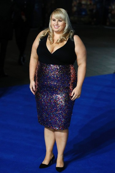 """Actress Rebel Wilson arrives for the European premiere of """"Night at the Museum: Secret of the Tomb"""" at Leicester Square in London December 15, 2014.  REUTERS/Luke MacGregor"""