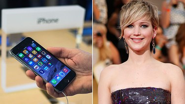 3. Google: iPhone 6 - Apple's flagship phone was released Sept. 19 along with the larger iPhone 6 Plus. REUTERS/Adrees Latif  Yahoo: Jennifer Lawrence. REUTERS/Lucy Nicholson