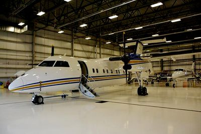 One of the Alberta government aircraft that are currently up for sale by Service Alberta, Surplus Sales. 1985 DeHavilland Dash 8-103 Serial # 017, Registration # C-GFSJ with a reserve bid of $5,500,000.00. Sealed bids have to be in made by 2pm MST on Tuesday, Feb. 24, 2015. More information can be found at this link. http://surplus.gov.ab.ca/TenderSaleDetail.aspx?SaleCode=TNEDMOUT20140003