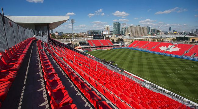 BMO Field before the renovation groundbreaking ceremony on September 23, 2014. (Ernest Doroszuk/Toronto Sun/QMI Agency)