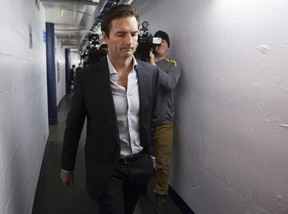 Dallas Eakins says during his playing days he was on so many different teams, he can`t recall some of them. (David Bloom, Edmonton Sun)