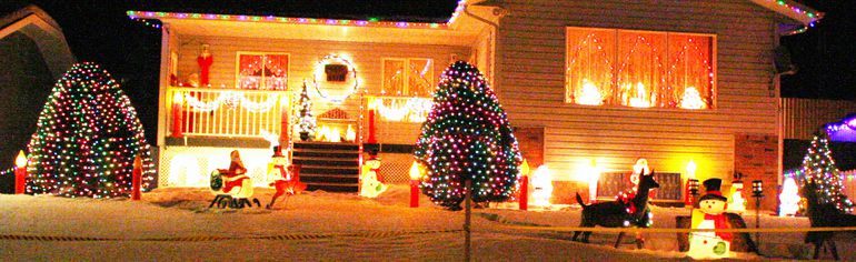 The judging of the Town of Fairview Christmas Light-up contest took place on Tuesday, Dec. 9 and the winning house is the residence of Norman and Mackie Banner. The judges gave their house a 10 out of 10, judging on the use of light, colour and design.