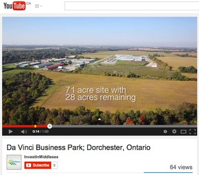 This view from a video of Da Vinci Business Park in Dorchester is paying off for Invest In Middlesex.