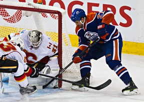 Boyd Gordon, the Oilers' fourth-line checking centre, has been the team's go-to guy offensively, with four goals in 20 games. (Codie McLachlan, Edmonton Sun)