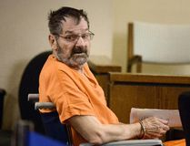 Frazier Glenn Cross Jr, also known as Glenn Miller, sits in a Johnson County courtroom for a scheduling session in Olathe, Kansas, in this file photo taken April 24, 2014. REUTERS/John Sleezer/The Kansas City Star/Files