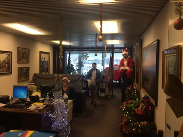 A live Elf on the Shelf in Councillor Norm Kelly's council office in Toronto, Ont. on Thursday December 18, 2014. Don Peat/Toronto Sun/QMI Agency