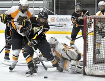 The Nor-Lan Chrysler Midget AAA Peace Country Storm will face rivals St. Albert Slash during the upcoming Mac's tournament in Calgary. DHT file photo