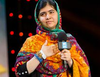 Malala Yousafzai at We Day U.K. (Photo: Free The Children)
