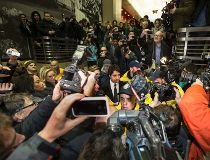 Celebrity radio host Ghomeshi leaves court after getting bail on multiple counts of sexual assault in Toronto