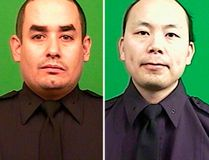 New York Police Officer Rafael Ramos, 40, left, and Wenjian Liu, 32, right, are seen in undated pictures provided by the New York Police Department December 20, 2014. (REUTERS/NYPD/Handout via Reuters)