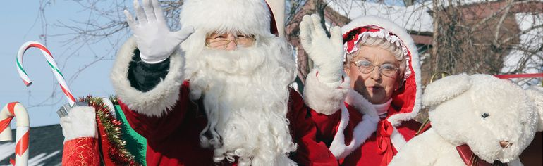And to all, a good night... Santa and Mrs. Claus make their last parade appearance in Renfrew County before Christmas Eve, arriving to greet children of all ages at the Douglas Lions Club Santa Claus Parade, which took place Sunday.