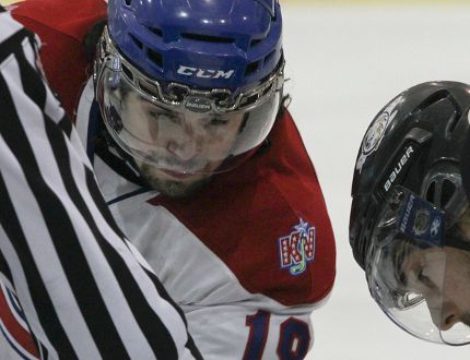 Delhi's Adam Brady, a forward with the Kingston Voyageurs - has signed with the Robert Morris Colonials of the NCAA. QMI Photo