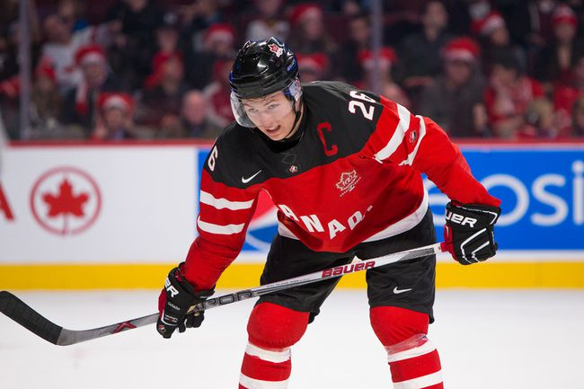 Canada's Curtis Lazar during the first period against Slovakia during the 2015 IIHF World Junior Championship on December 26, 2014 at the Bell Centre. (JOHANY JUTRAS/LE JOURNAL DE MONTRÉAL/QMI AGENCY)