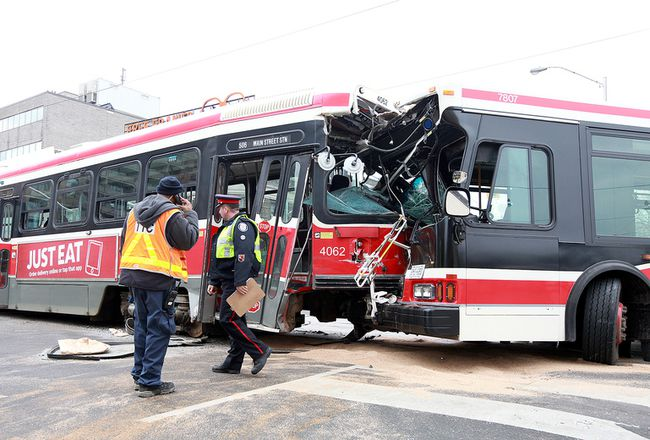 Bus streetcar crash