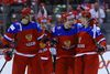 Alexander Sharov of Team Russia celebrates his goal against Team Sweden during the semifinals of the 2015 World Junior Hockey Championships at the Air Canada Centre in Toronto on Sunday January 4, 2015. (Dave Abel/Toronto Sun/QMI Agency)