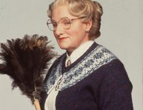"Robin Williams in 1993's ""Mrs. Doubtfire."""