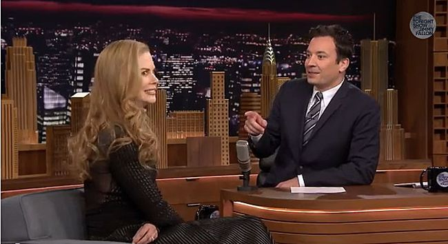 Nicole Kidman makes a guest appearance on the Tonight Show with Jimmy Fallon Tuesday night. (YouTube screengrab)