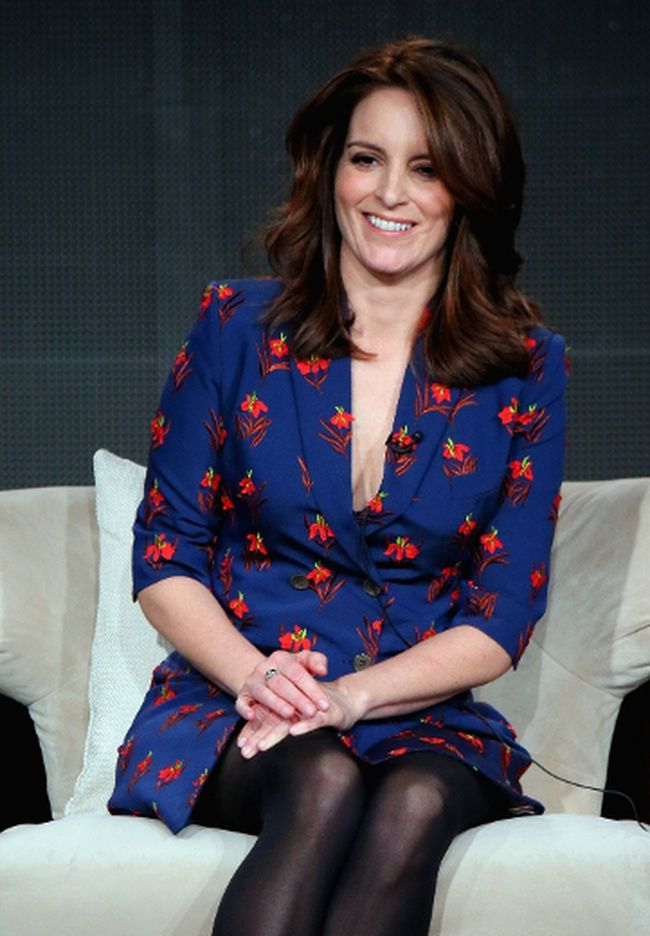 Producer and co-writer Tina Fey speaks about The Unbreakable Kimmie Schmidt during the Netflix TCA Press Tour at Langham Hotel on January 7, 2015 in Pasadena, California.  Mark Davis/Getty Images for Netflix/AFP