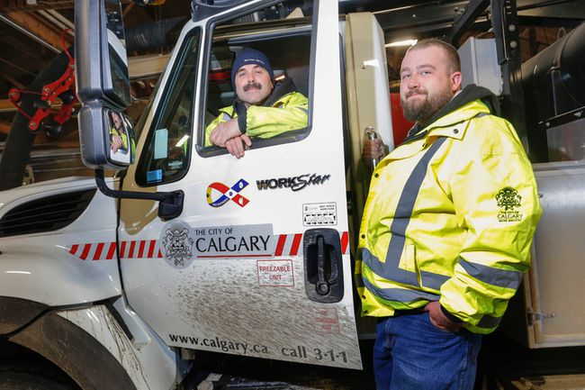 """City of Calgary workers William """"John"""" Osachoff and Bryce Urzada"""