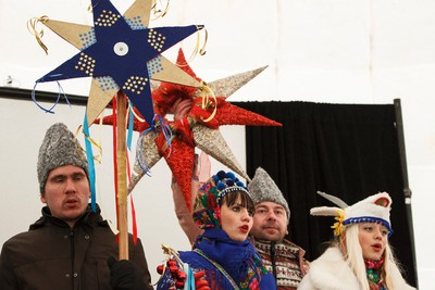 Arts of Life Studio performers wearing Ukrainian costumes perform a traditional harvest dance during Deep Freeze A Byzantine Festival along 118 Avenue near 92 Street in Edmonton, Alta., on Saturday, Jan. 10, 2015. The theme for 2015 is Return of the Vikings. Ian Kucerak/Edmonton Sun/ QMI Agency