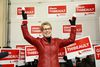 Ontario Premier Kathleen Wynne addresses Liberal supporters at the opening of Sudbury Liberal byelection candidate Glenn Thibeault's campaign office in Sudbury, on Saturday, Jan. 10, 2015. (JOHN LAPPA/QMI AGENCY)