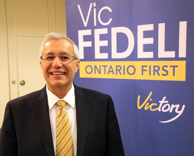 Nipissing MPP Vic Fedeli is running for the Progressive Conservative leadership. (QMI Agency)