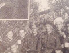 Lieut. Bill Anderson (back row standing with white hat), France 1944. (Contributed photo)