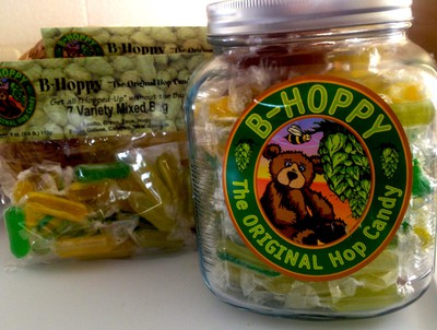 Hop candiesLovers of piney, earthy and citrusy Pale Ales and IPA's should replace their Werther's with green and yellow candies made with weird and wonderful hop varietals from around the world. B-Hoppy sells mixed packs of hard candies infused with the hottest new hops, from the melon-like Apollo flavour, to dank piney Zeus.