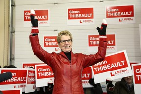 Ontario Premier Kathleen Wynne addresses Liberal supporters at the opening of Sudbury Liberal byelection candidate Glenn Thibeault's campaign office in Sudbury, ON. on Saturday, Jan. 10, 2015. JOHN LAPPA/THE SUDBURY STAR