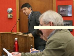 BRUCE BELL/The Intelligencer Bill Simpson, chief development officer of the Drake Devonshire Inn, told Prince Edward County's committee of the whole the company is trying to solve parking problems since opening in the fall.