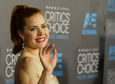 """Actress Amy Adams from the film """"Big Eyes"""" arrives at the 20th Annual Critics' Choice Movie Awards in Los Angeles, California January 15, 2015.  REUTERS/Kevork Djansezian"""