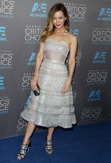 """Leslie MannGRADE: AThe sparkle and sheer details of this Reem Acra dress are beautiful, and we love those strappy heels! FayesVision/WENN.com   PDRTJS_settings_8024666 = { """"id"""" : """"8024666"""", """"unique_id"""" : """"default"""", """"title"""" : """""""", """"permalink"""" : """""""" }; (function(d,c,j){if(!document.getElementById(j)){var pd=d.createElement(c),s;pd.id=j;pd.src=('https:'==document.location.protocol)?'https://polldaddy.com/js/rating/rating.js':'http://i0.poll.fm/js/rating/rating.js';s=document.getElementsByTagName(c)[0];s.parentNode.insertBefore(pd,s);}}(document,'script','pd-rating-js'));"""