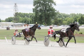 Harness racing kicked off on Tuesday at the Dresden Raceway. The Dresden Agricultural Society is operating the facility. PHOTO TAKEN JULY 1 2014 in DRESDEN. TREVOR TERFLOTH/ THE CHATHAM DAILY NEWS/ QMI AGENCY