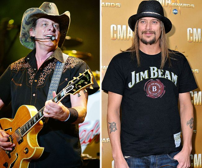 Ted Nugent and Kid Rock. (WENN/Reuters)