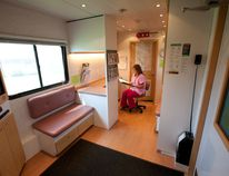 The interior of the mobile mammography unit. Photo provided Alberta Screen Test