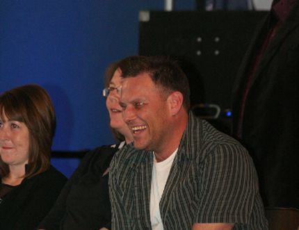 Gary Tremblay shares a laugh as he takes in some fun at the 2014 LMHA banquet. Tremblay passed away suddenly on Sunday, Jan. 18. As a long-time member of the Leduc Old Blades, current members will honour his number 7 at the weekend's first round playoffs at the Leduc Recreation Centre. FILE PHOTO